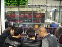 【テヘラン証券取引所・中は銀行の支店ほどの広さしかなく、かなり手狭である】(撮影:大村一朗)
