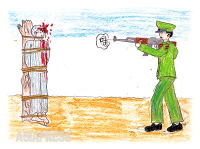 こんな世の中で生きるのなら、死んだほうがマシだ 今この瞬間も、北朝鮮では公開銃殺が止むことはありません。強盗、殺人、犯罪の大部分は単純に食べ物を手に入れるために発生します。コメひとすくい、ジャガイモ数個のために人を殺めてしまうことはしょっちゅうです。 ―ハンギル(キルスの兄)
