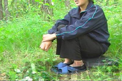 編集部がインタビューした延社郡の農民女性。「貨幣交換」への不満をぶちまけ「早く政治が変わってほしい」と訴えた。(2010年7月 中国延辺朝鮮族自治州)