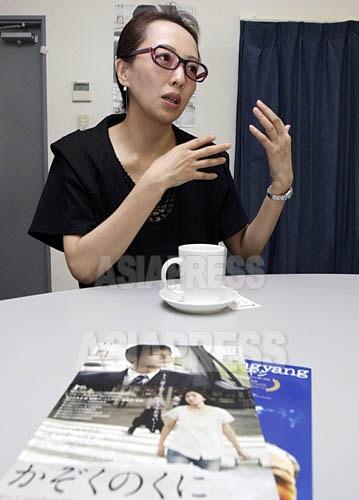 ヤン・ヨンヒ監督 (撮影ナム・ジョンハク/アジアプレス)