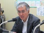 ラジオフォーラムの収録で語る小出裕章さん