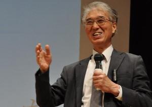 京都大学原子炉実験所の小出裕章さんの講演では原子力の安全性に改めて警告を発した。(2014年10月大阪市内にて撮影・樋口元義)