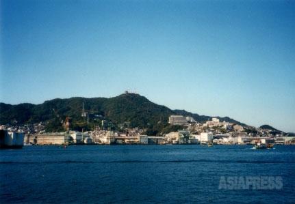 海底ケーブル布設船、千代田丸の母港だった長崎港。撮影 吉田敏浩