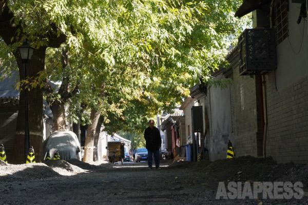 中国は超高齢化に直面している。2015年10月31日北京東城区にて、撮影 宮崎紀秀