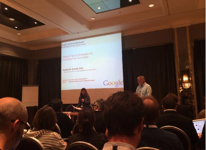 「グーグル検索」を報道に使いこなすためのセッションの様子 撮影アイア・アジア