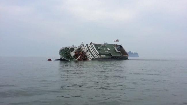 韓国最悪の海難事故になったセウォル号沈没事故。韓国中が悲しみに沈んだ。(ⓒダイビング・ベル2014)