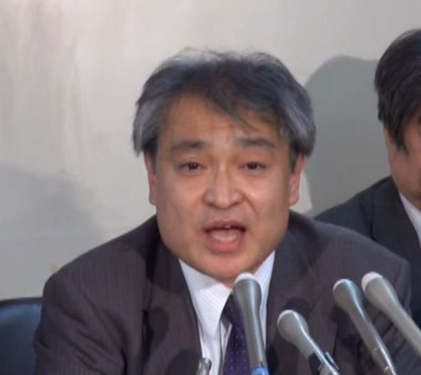 裁判で会見する原告の父親で元朝日新聞記者の植村隆さん (アイ・アジア)