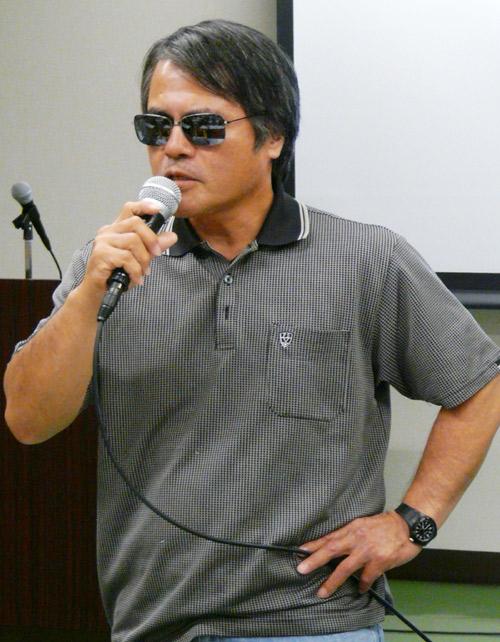 芥川賞作家の目取真俊さん(撮影うずみ火)