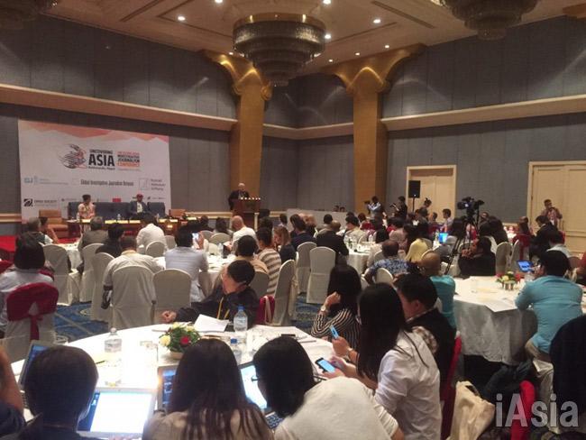 パナマ文書に関心が集まったカトマンズでのアジア調査報道会議(撮影アイアジア)