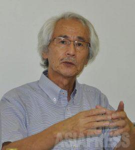 ジャーナリストの山口正紀さん(撮影・樋口元義さん)