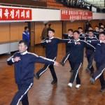 매년 김일성의 생일 '4월 15일'을 전후로 열리는 '만경대상 체육 경기 대회'. 북한 최대의 국내 스포츠 대회다. 사진은 2013년 대회 개회식의 한 장면. (조선중앙통신에서)