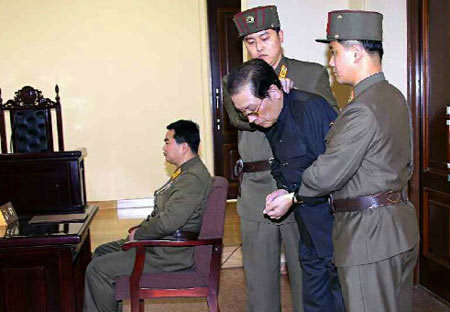 Jang Song-thaek sentenced to the death penalty at the special military tribunal of the DPRK Ministry of State Security on 12th December. (Dec/2013 - PHOTO:Rodong Sinmun)