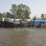 (Reference photo) Wooden fishing boat moored at a port in NorthPyongan Province, North Korea. Taken by Lee Jin-su in May 2011. ASIAPRESS