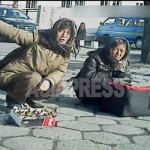 (Reference Photo) Female street vendors at the front of Shinuiju station. It seems that the ordinary people are inevitably feeling an effect of sanction such as inflation. November 2012 by ASIAPRESS