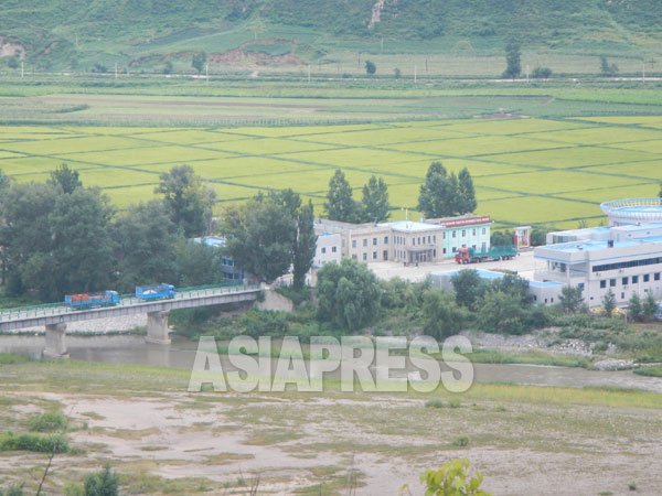 The Tumen River, on the border between Hoeryong City, North Korea and China: the incident occurred in this area. Taken on August 2015, from the Chinese side by ISHIMARU JIRO (ASIAPRESS)