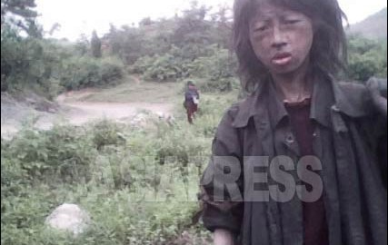N.Korea : Starving 23 year-old Homeless Woman (Rimjin-gang/ASIAPRESS)