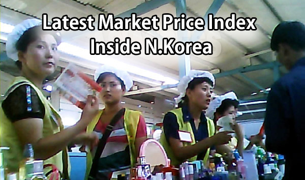 Latest Market Price Index Inside N.Korea
